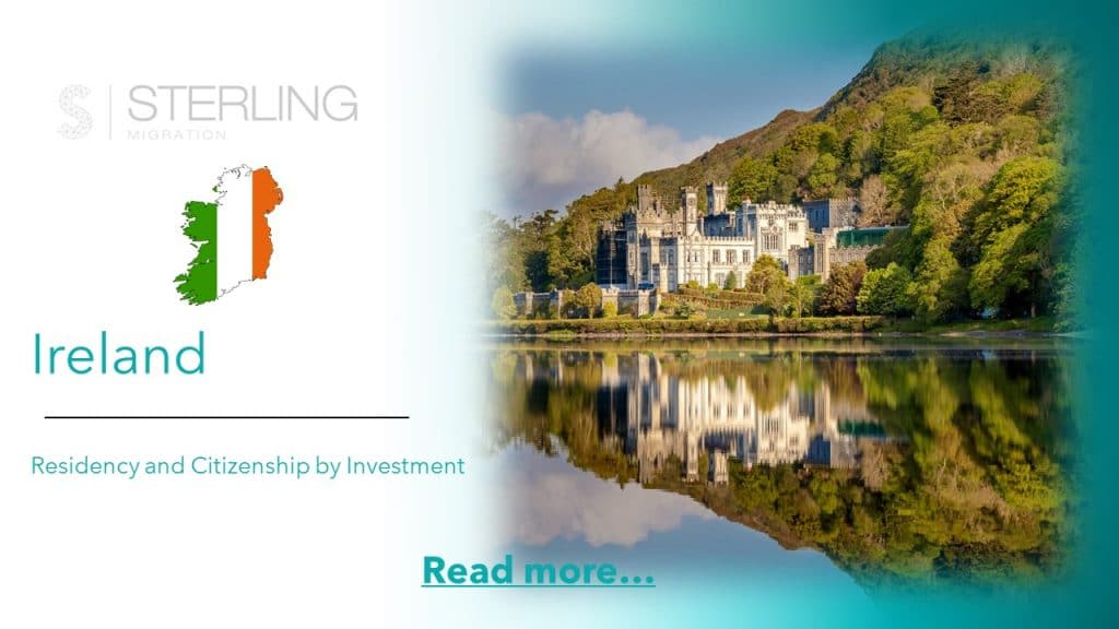 Irish residency and citizenship by investment read more