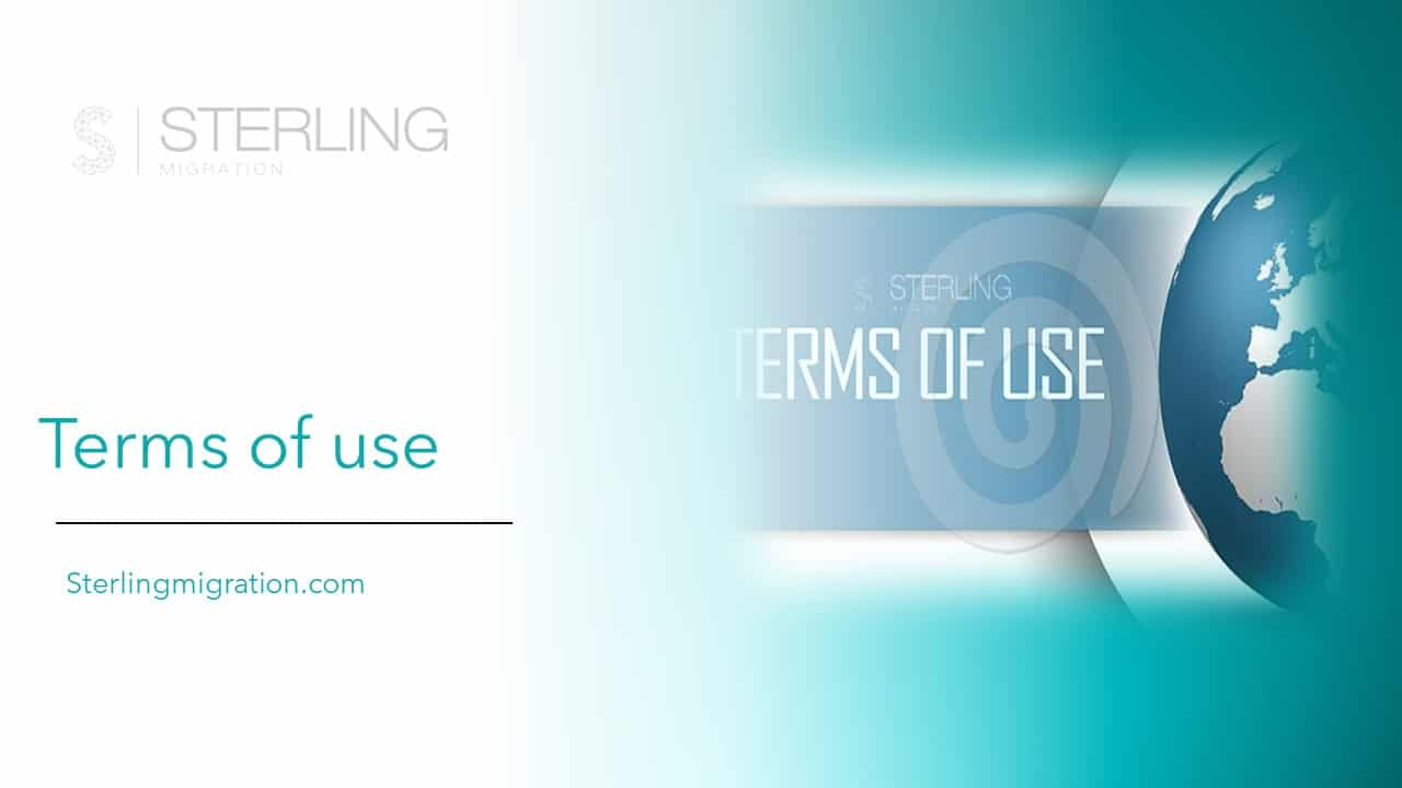 Sterling Migration Terms of use