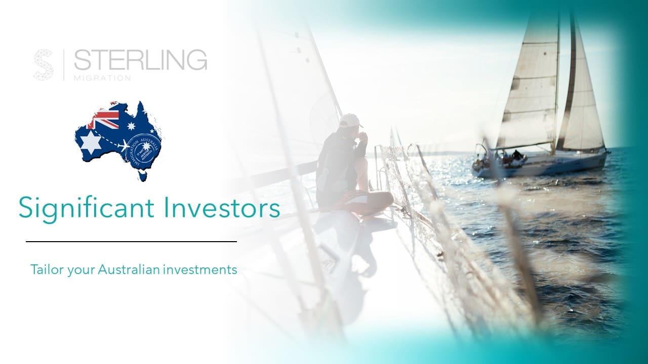 Australian significant investor visas