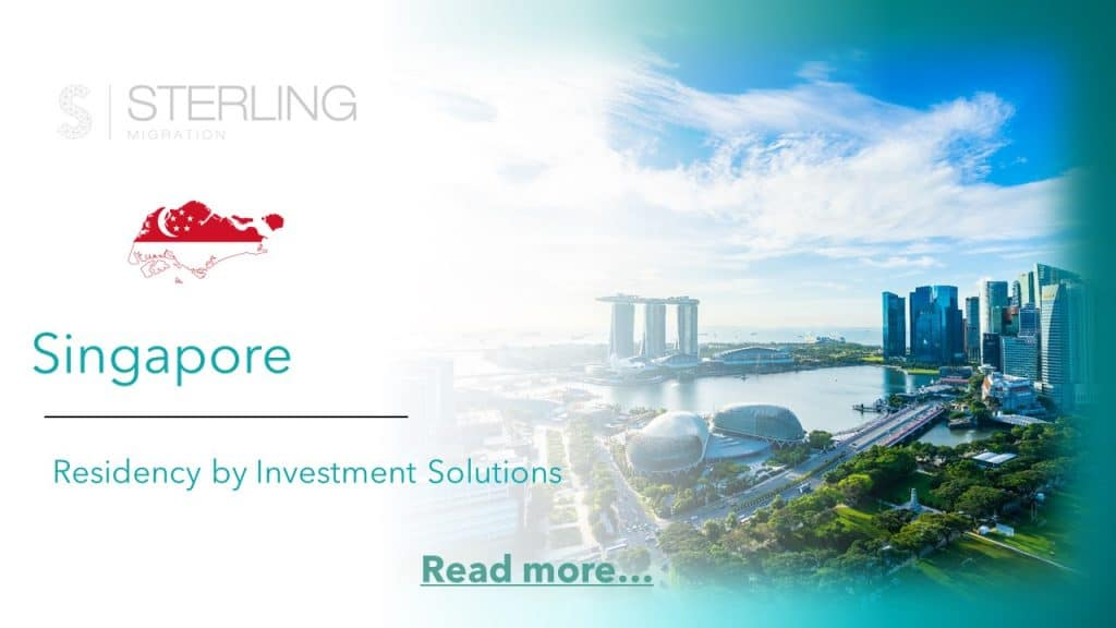 Singapore Residency by Investment read more