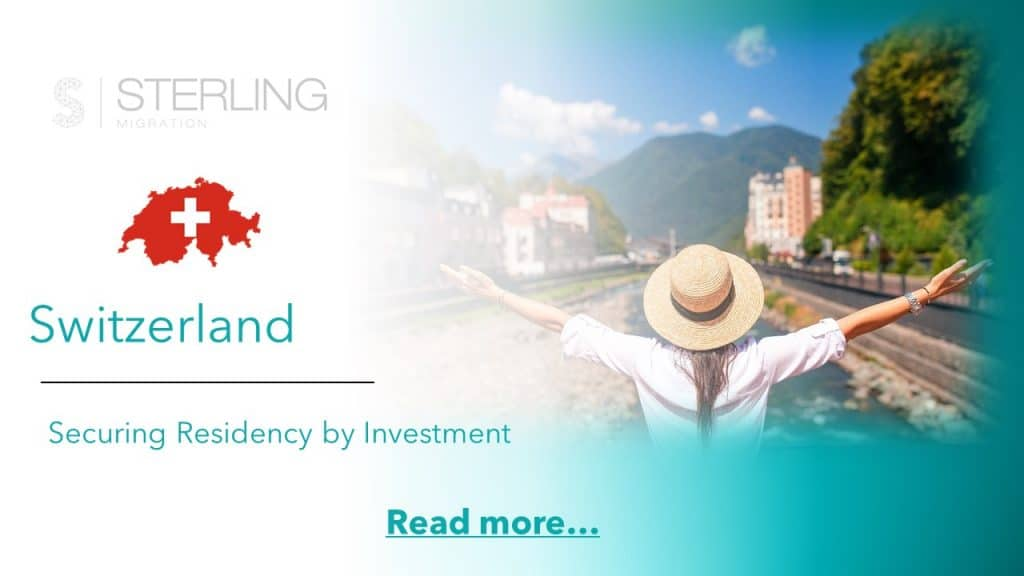 Switzerland Residency by Investment read more
